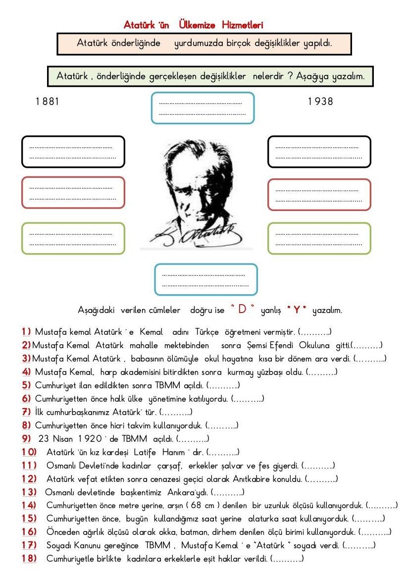 Atatürk'le Kazandıklarımız Etkinlik Sayfası