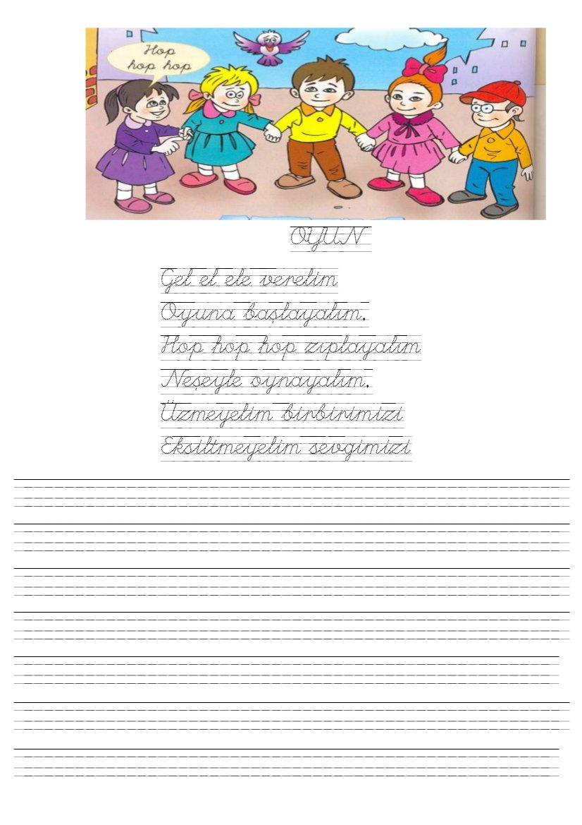 1. Sınıflar Okuma Yazma Çalışma Etkinlikleri Sayfası