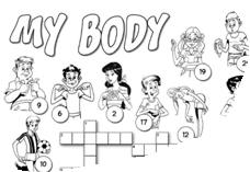 """İngilizce Bulmaca Etkinlikleri """"My Body"""""""