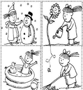 İngilizce Etkinlikler Sayfası Mevsimler