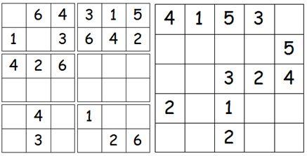 5 li 6 lı Sudoku Kolay Sudoku Kağıdı İndir