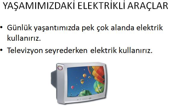 3.Sınıflar Yaşamımızdaki Elektrikli Araçlar Sunusu