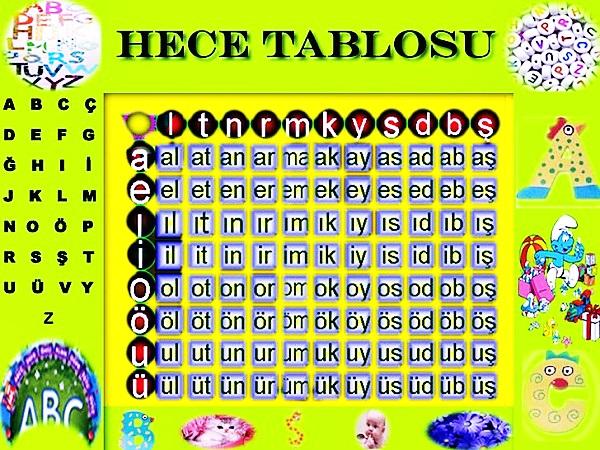 Hece Tablosu