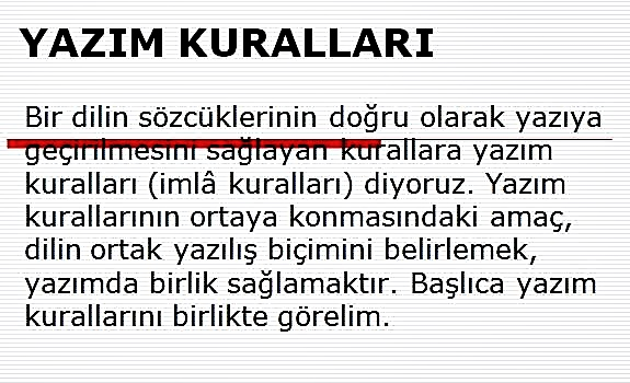 Türkçede Yazım Kuralları