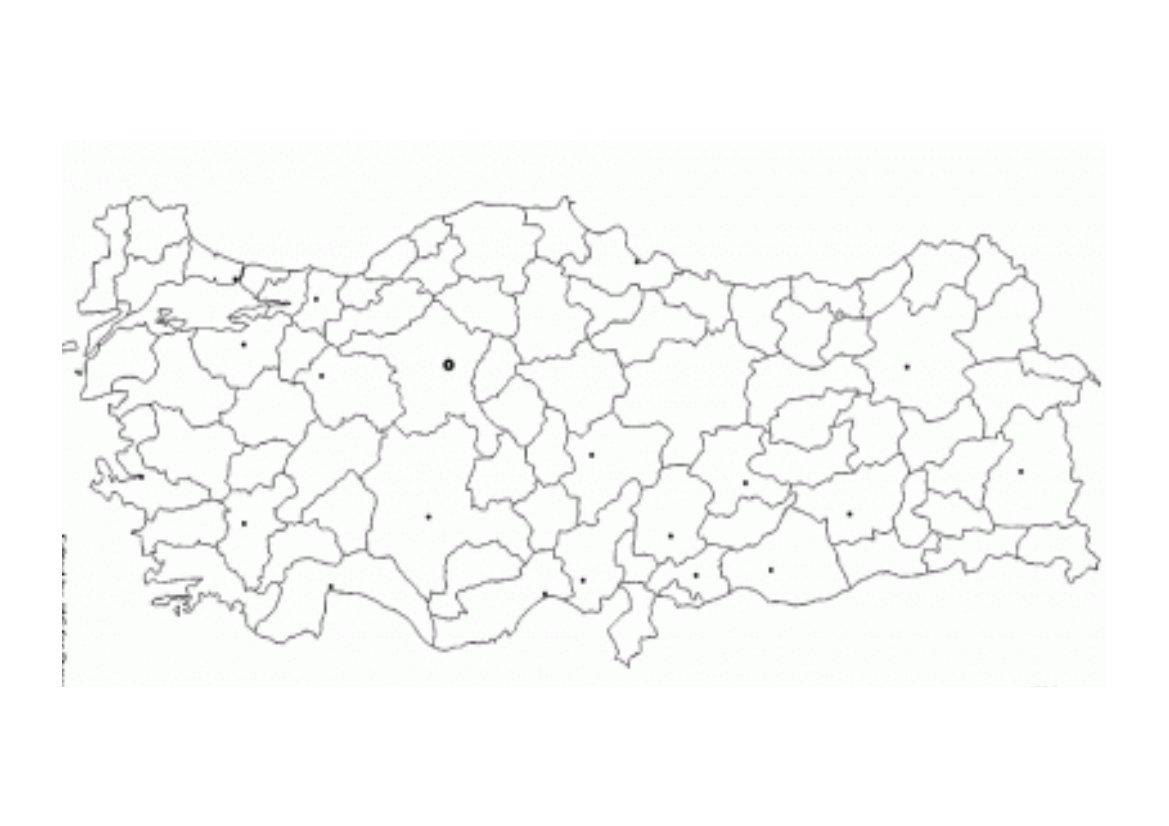 Harita Cizme Boyama Etkinligi Egitim Icin